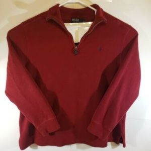 Men's Polo Ralph Lauren 1/4 Zip Pullover Size XL